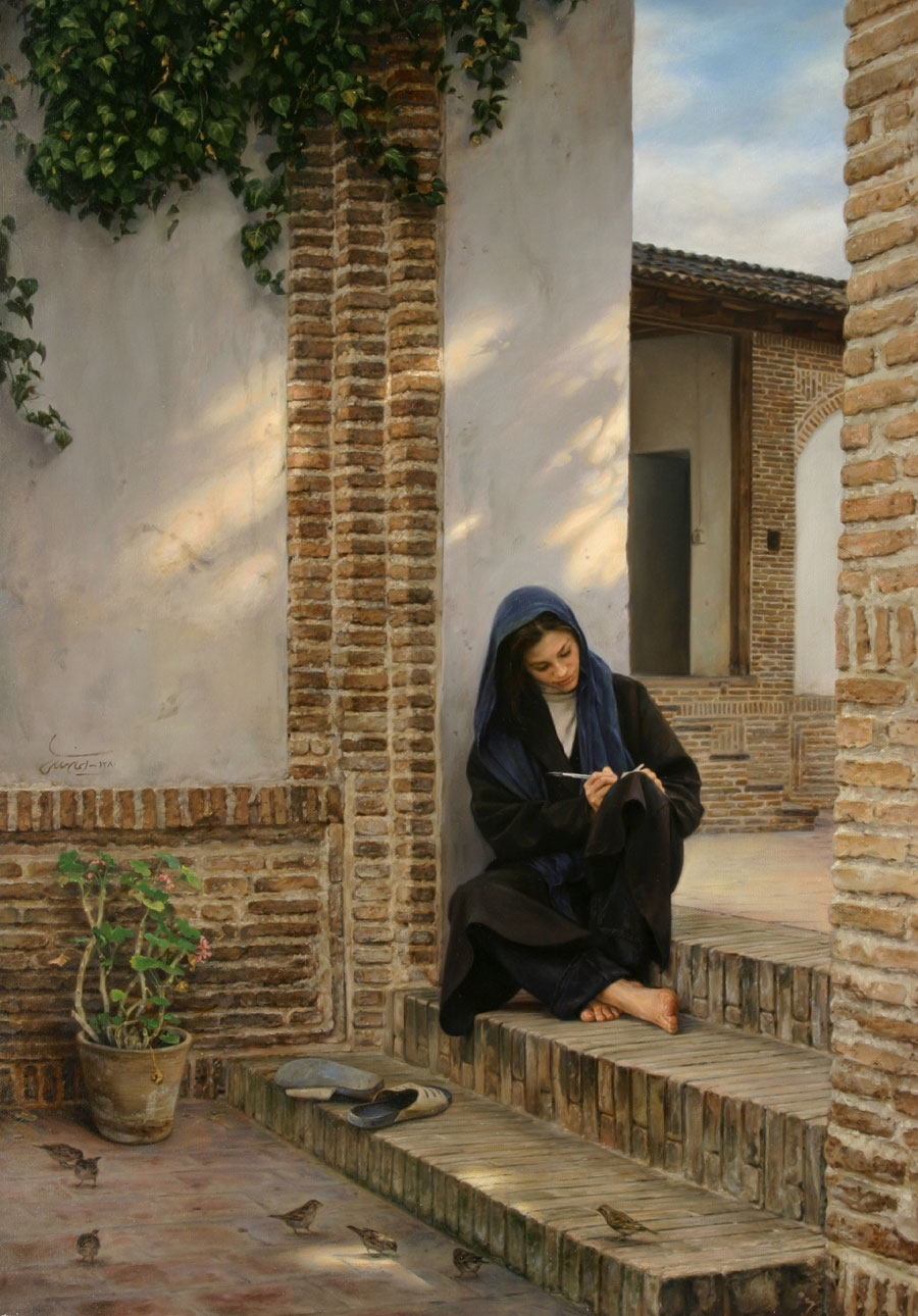 04-Memory-of-that-House-Iman-Maleki-Realistic-Paintings-that-Portray-Intense-Expressions-www-designstack-co