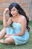 Sahana New cute Telugu Actress in Sky Blue Small Sleeveless Dress ~  Exclusive Galleries 055.jpg