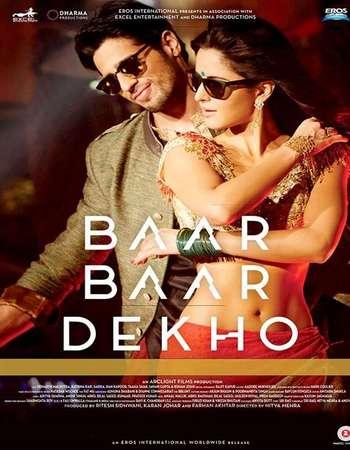 Poster Of Baar Baar Dekho 2016 Hindi 500MB DVDScr 720p HEVC Watch Online Free Download
