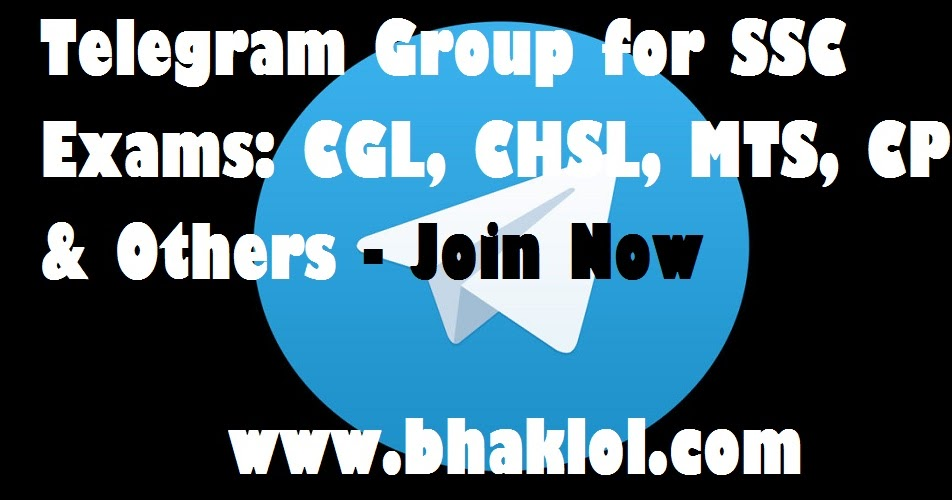 Telegram Group for SSC Exams: CGL, CHSL, MTS, CPO & Others - Join Now