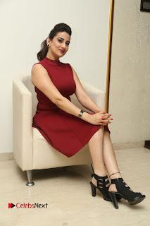 Telugu Tollywood Anchor Manjusha Pos in Red Short Dress  0133.JPG