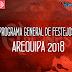 PROGRAMA DE FESTEJOS Arequipa 2018