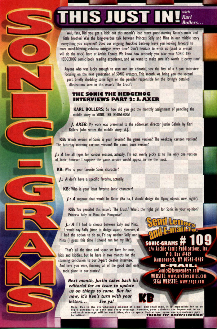 Read online Sonic The Hedgehog comic -  Issue #109 - 28