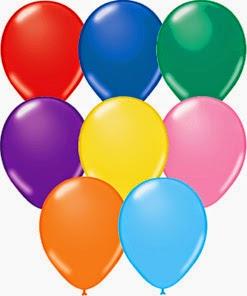 Воздушные шарики среднии
