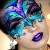 Benátske masky maľované na tvár