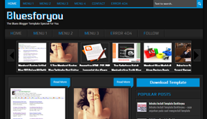 Download Bluesforyou Blogger Template