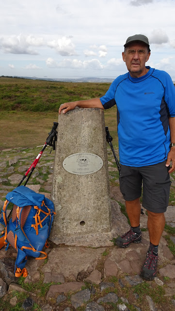 Me on Beacon Batch on my lands end to john o'groats hike