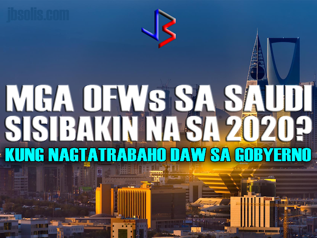 "A shocking news was published recently in the newspaper Saudi Gazette, one which can have huge implications for the thousands of OFWs working in the Kingdom of Saudi Arabia. Apparently, there is a plan to remove all expatriate workers from government departments within three years is in the works.  Believed to be one of the initiatives of the National Transformation Program 2020, the plan directs the Ministry of Civil Service to ask all ministries and government departments to replace all expatriate workers by the end of 2020.  The move was apparently announced in a meeting last May 8, which was attended by senior officials from ministry and HR experts from different ministries, departments, universities and other public sector. The meeting, which focused on the initiative of Saudization plan by 2020, was said to be followed by a workshop titled ""Job nationalization."" The announcement was made public by deputy minister Abdullah Al-Melfi. Melfi further said ""The complete nationalization of government jobs is an important objective of the National Transformation Program 2020 and the Kingdom's Vision 2030."" It was said that there were 70,000 expats in the public sector at the end of last year. As for the number of OFWs, it is unknown  so far as no solid statistics in available.  Also unclear is the scope of the plan to remove expats. In the civil sector, the government employs thousands of expats across a broad range of industries, from ministry offices to industrial plants and utilities to universities and medical hospitals. Add to complication is the number of expats working in government but are actually employed privately and were only supplied to government institutions - like cleaners, clerks, medical staff, technicians, maintenance and so on. Currently, there are no clear plans laid out on how the Saudi government will implement this part of their plan, apart from the National Transformation Program 2020, which you can see here. What is clear is that Saudi Arabia is in a midst of an epic transformation which started with the crash of oil prices a few years ago. Guided by the program Vision 2030, the kingdom aims to change its course, focusing on developing its economy to be less dependent on its once vast oil reserves and the huge oil revenue it brings in annually.  Expats have seen a lot of changes directly affecting their lives - from increased costs of gasoline, electricity and water, to new or increased levies imposed on expats and their dependents. News of expat taxes and remittance taxes also abound. But of all the news coming from the Saudi government, this one is sure to spell the end for thousands of OFWs in KSA."