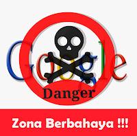 logo zona berbahaya google