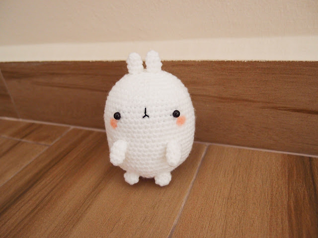Crocheted Molang amigurumi