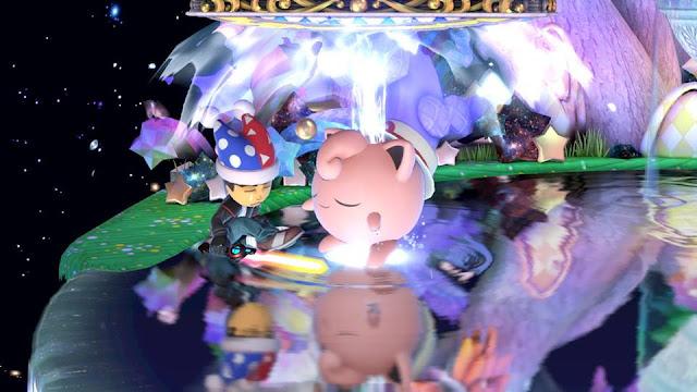 Super Smash Bros. Ultimate Masahiro Sakurai Mii sleeping Fountain of Dreams Marx hat