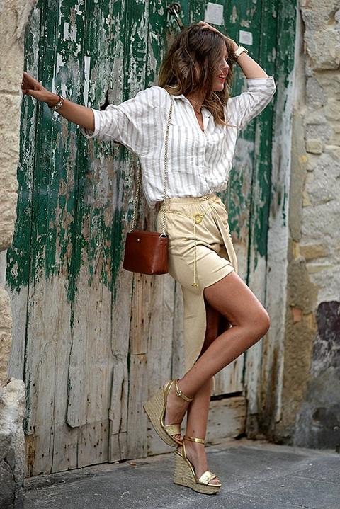 C чем носить золотистые туфли: 11 актуальных образов на любой случай