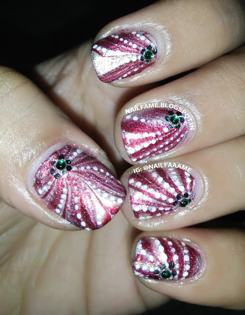 WATERMARBLE NAILART