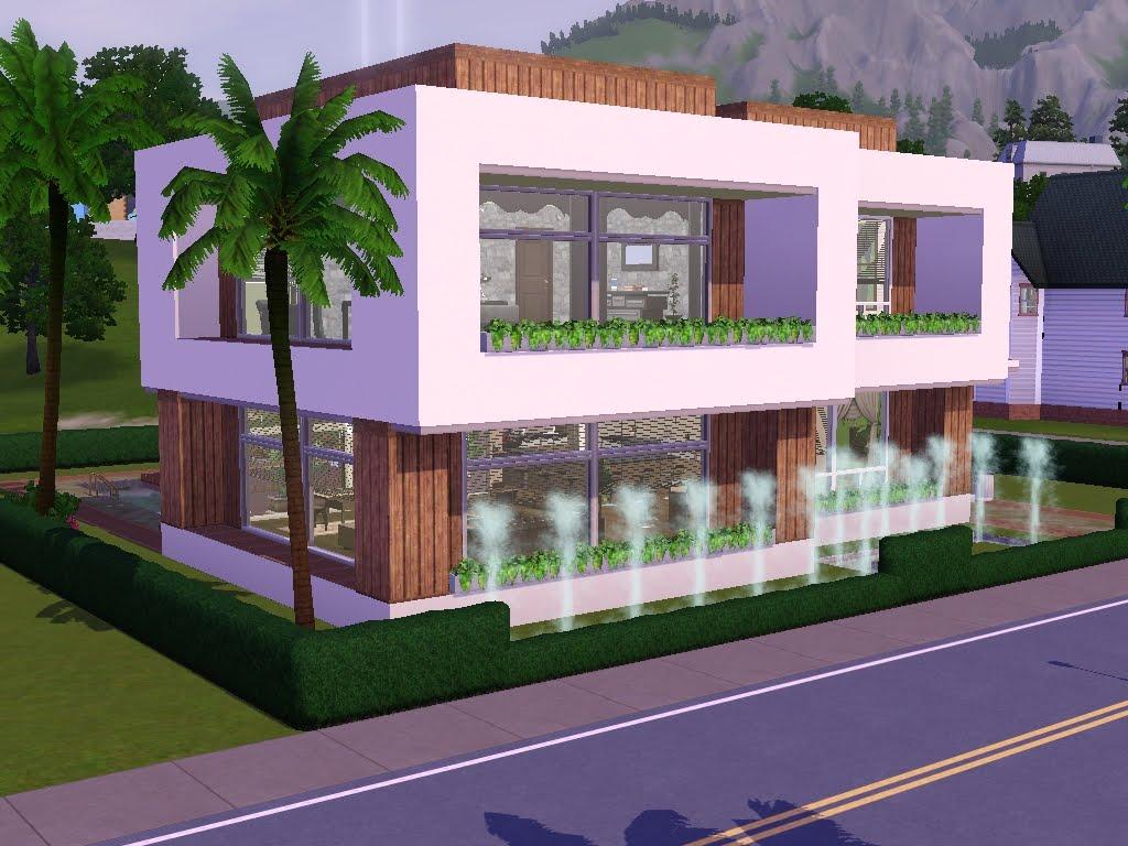 Stunning Maison Moderne De Luxe Sims 3 Contemporary - Design ...