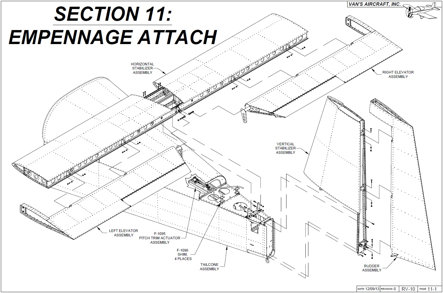 Operation Rv 10 Empennage Attach