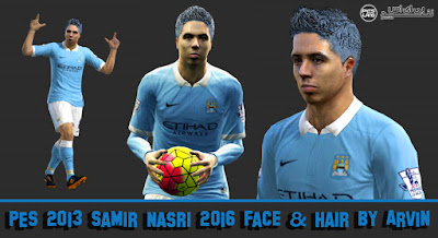 PES 2013 Samir Nasri 2016 Face and Hair By Arvin