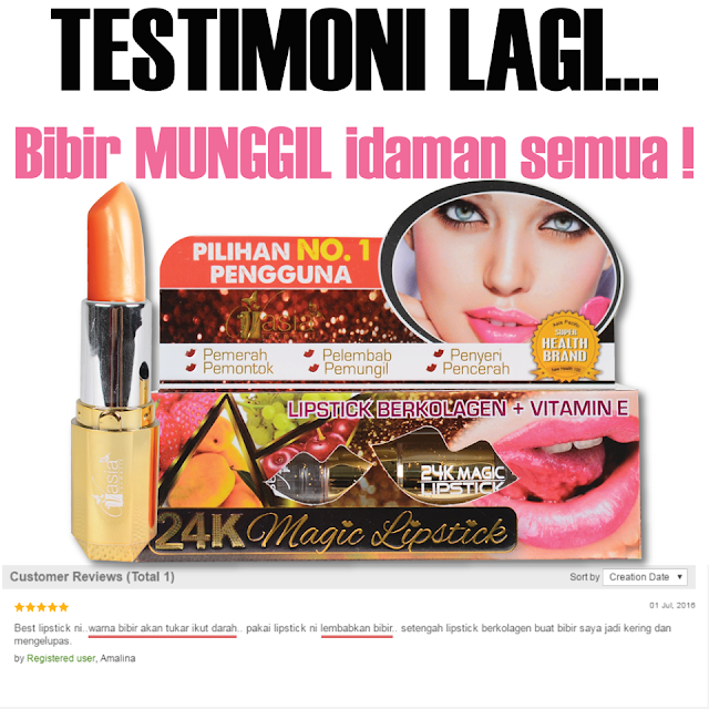 Testimoni 24k Magic Lipstick V'asia