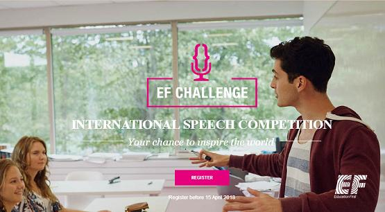 EF Challenge International Speech Competition New York, USA 2018