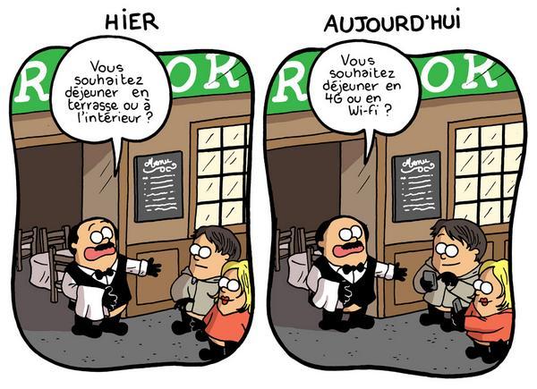 W restauracji - nagłówek - Francuski przy kawie