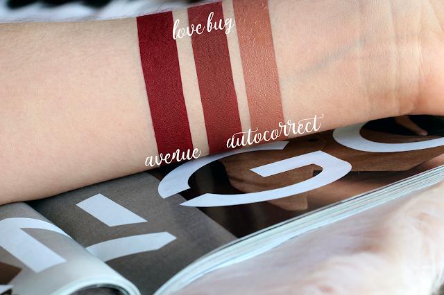 swatch ultra matte lip colourpop