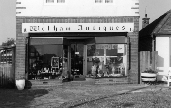 Photograph of Welham Antiques, Station Road, 1974 run by the late Mrs Curley; now a private residence