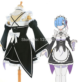 Re:Zero kara Hajimeru Isekai Seikatsu cosplay costume Rem and Ram maid dress