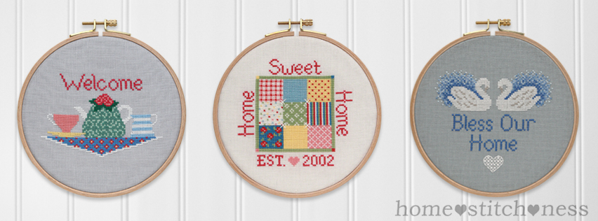 welcome home sweet home bless our home cross stitch patterns hoop art