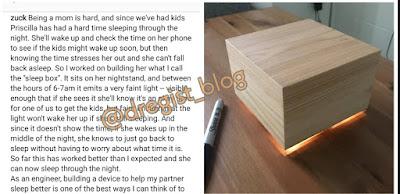 Mark Zuckerberg Builds A 'Sleep Box' For His Wife
