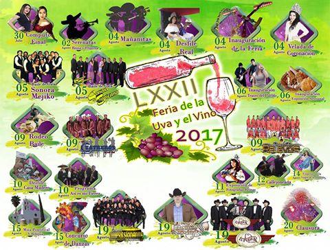 programa feria de la uva y del vino parras 2017