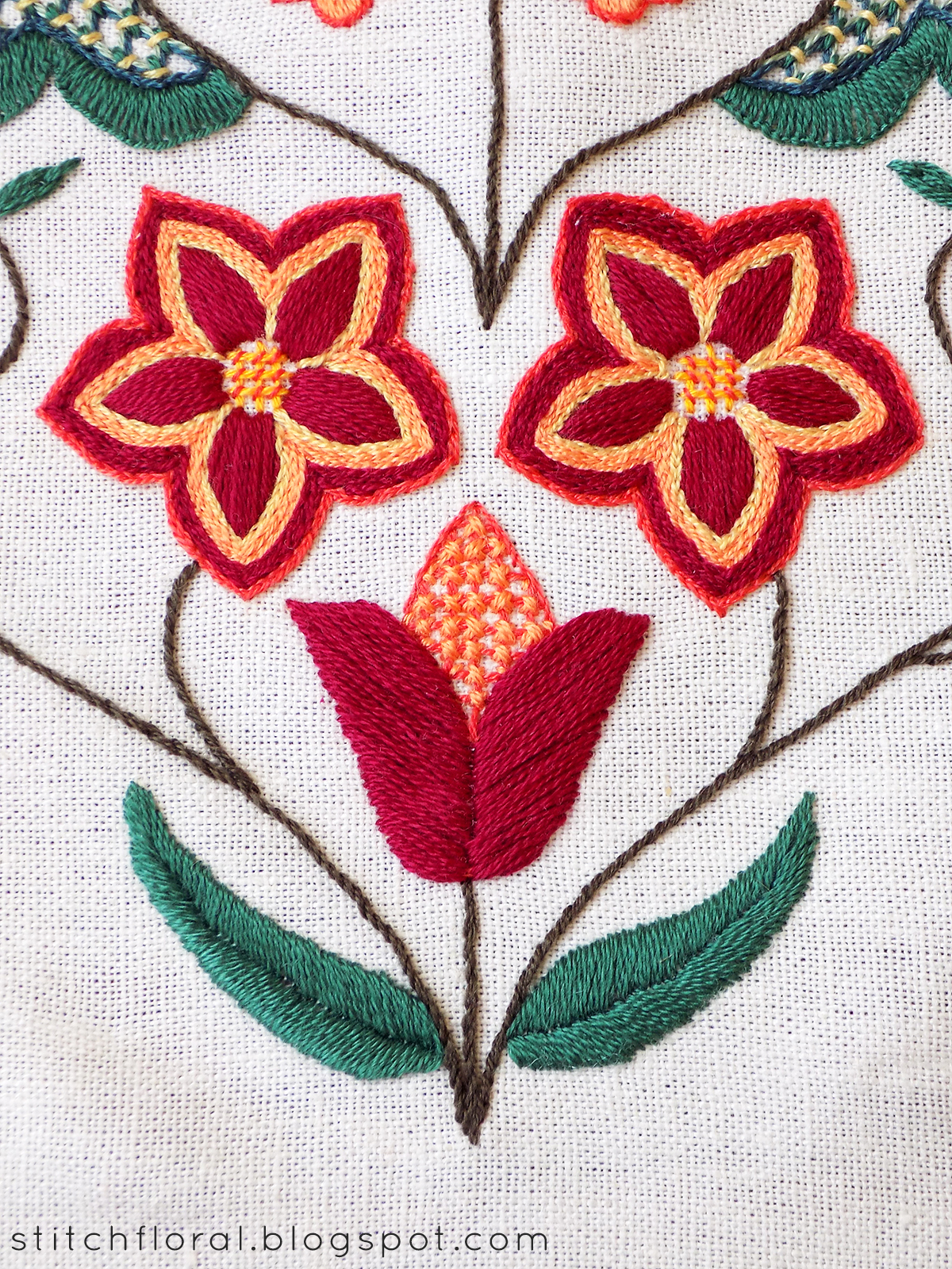 Crewel Heart hand embroidery