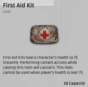 Аптечка (First Aid Kit) в Playerunknown's Battlegrounds
