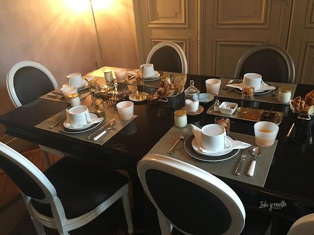L'Hôtel Particulier desayuno