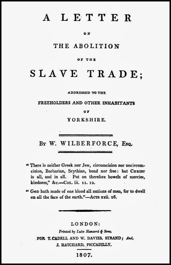 Front cover of A Letter on the Abolition of the Slave Trade by Wilberforce