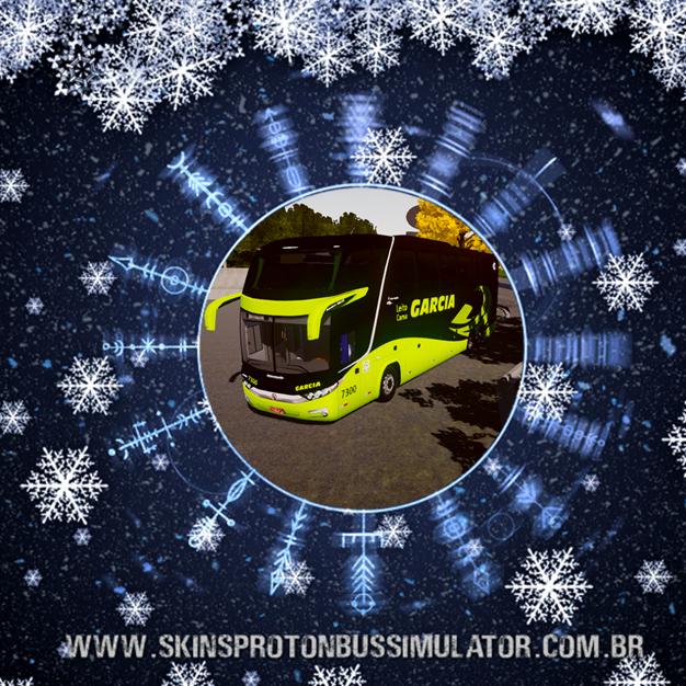 Skin Proton Bus Simulator - G7 1600 LD Scania 6X2 K420 Viação Garcia