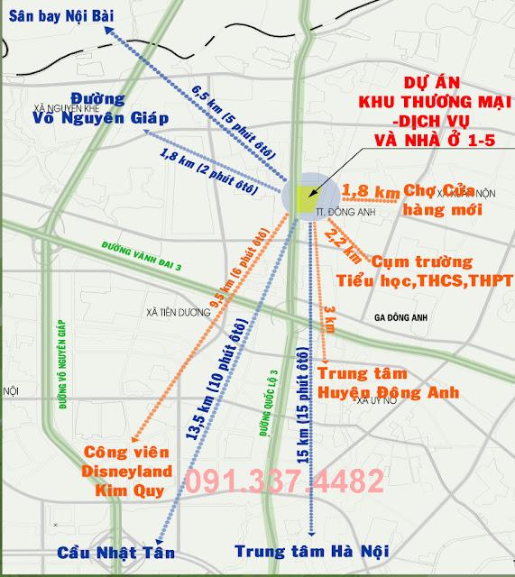 Dự Án Shophouse Liền Kề Thương Mại Happy Land 1-5 Đông Anh