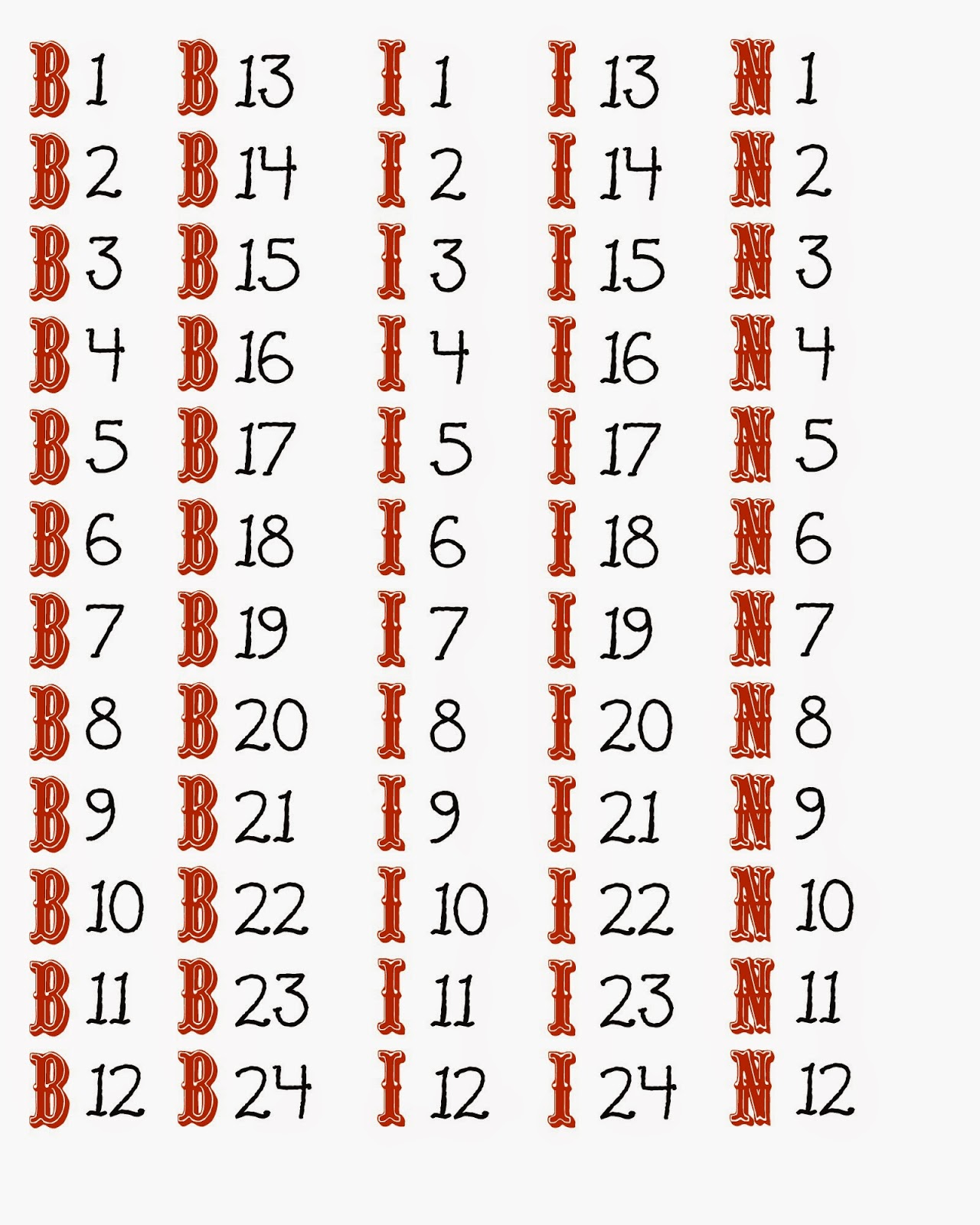 graphic relating to Free Printable Bingo Cards With Numbers titled Free of charge Printable 1 75 Selection Bingo Card Generator for Your