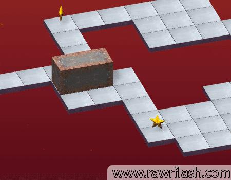 Bloxorz é um puzzle em 3D onde você controla um bloco retangular em um mapa de cubos. Tente virar e encaixar certo para que caixa na passagem final.
