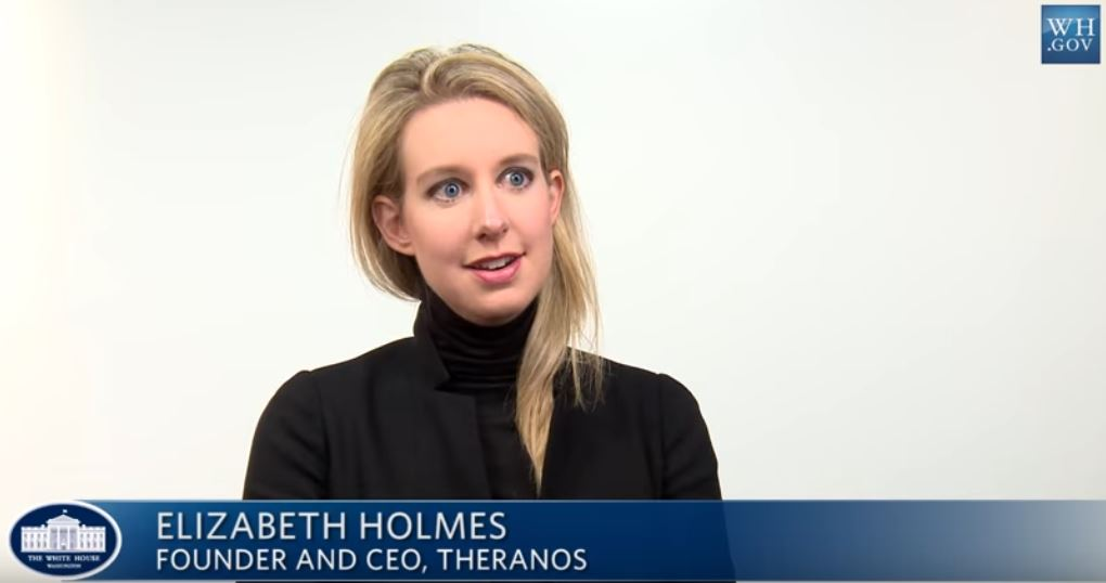 Elizabeth Holmes, Theranos CEO - Source: White House