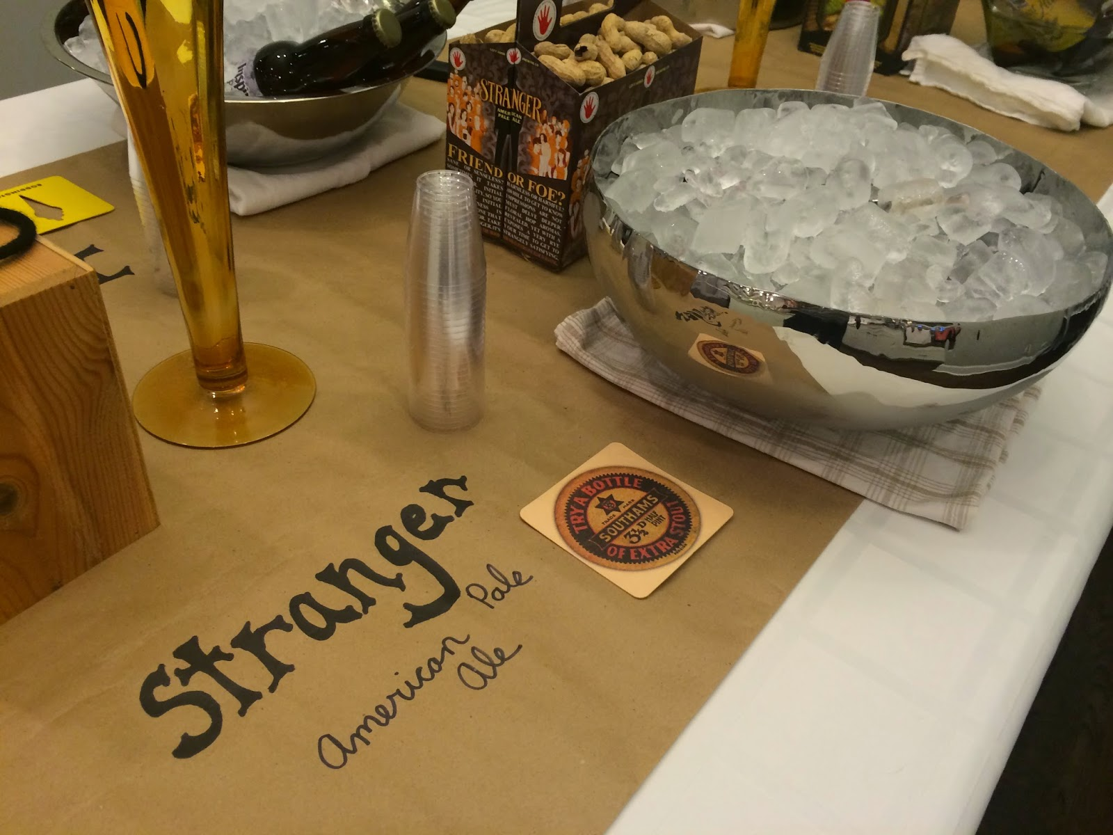Kraft Paper with Beer Labels- Beer Tasting