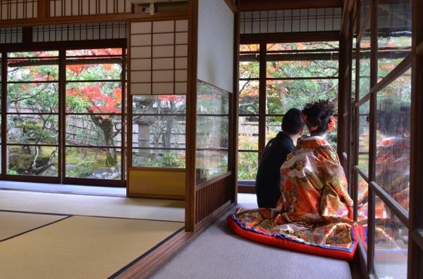 今日は岐阜県より。  紅葉に負けない豪華な衣装で勝負!