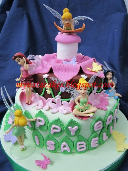 Mynata Cakes Tinkerbell Bday Cakes For Isabella