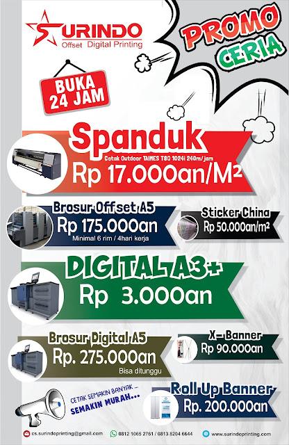Print Spanduk Murah 24 Jam Harga 13.500 Roll To Roll Rawamangun Jakarta Timur