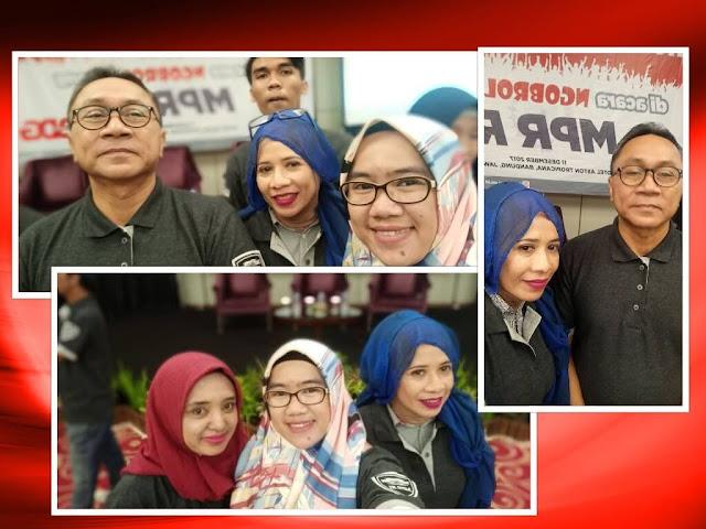 Selfie bareng ketua MPR