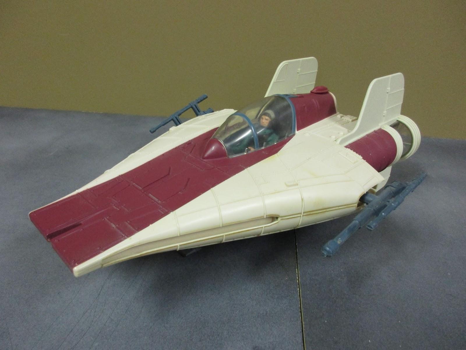 vintage kenner star wars toys a wing fighter vehicle. Black Bedroom Furniture Sets. Home Design Ideas