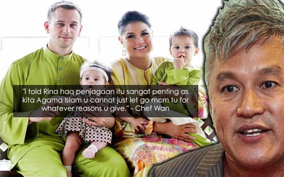 Serina Lepas Hak Penjagaan Anak-Anak, Ini Luahan Sayu Chef Wan