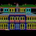 مخطط مشروع مسكن عائلي كبير جدا triplex اوتوكاد dwg