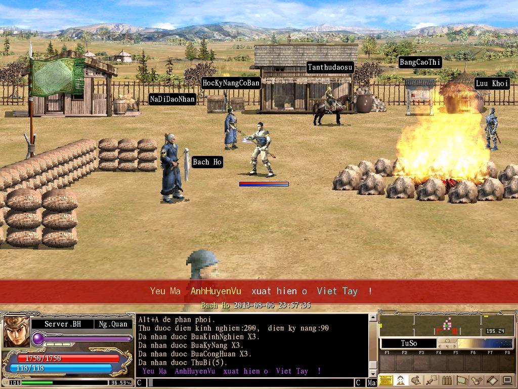 Kể từ đây, nhân vật của bạn đã có thể cùng tung hoành với các gamer khác  trong thế giới 3K Bạch Hổ.