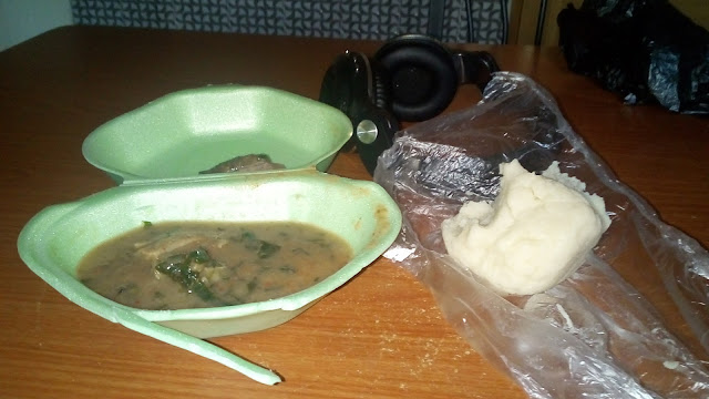 I have pounded yam for breakfast regularly; no fear of falling asleep at work