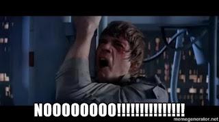 """Star Wars Luke Skywalker says """"nooooooooo"""""""