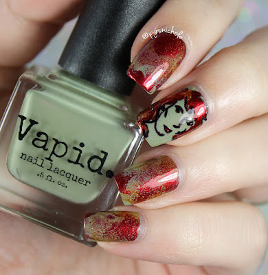 Vapid Nail Lacquer Fall 2016 | Zombie Girl Decal + Seriotype